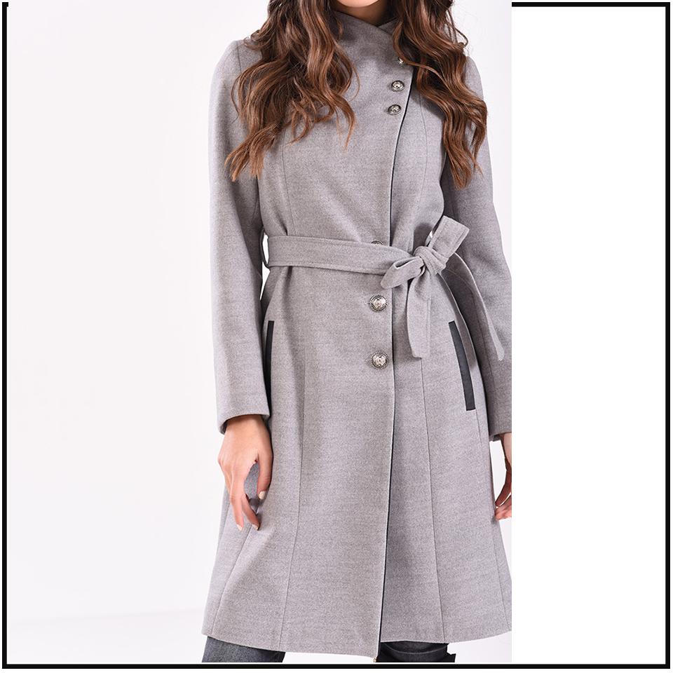 Μοντέρνο γυναικείο παλτό ANGELO σε χρώματα  9b5a1ee86de
