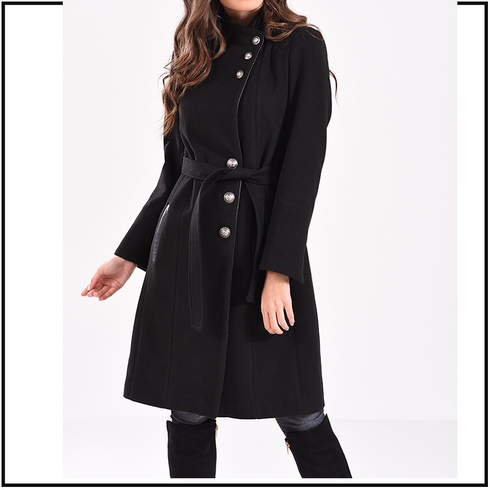 Μοντέρνο γυναικείο παλτό ANGELO σε χρώματα