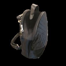 Βελούδινο backpack μαύρο με extra χερούλι