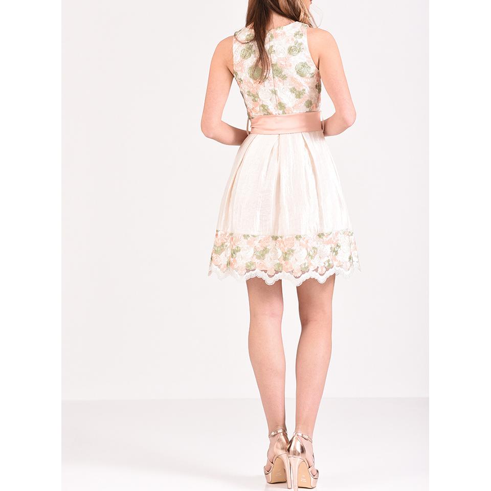 Mini φόρεμα φλοράλ σε Α γραμμή