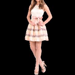 Κοντό φόρεμα ριγέ χωρίς μανίκια