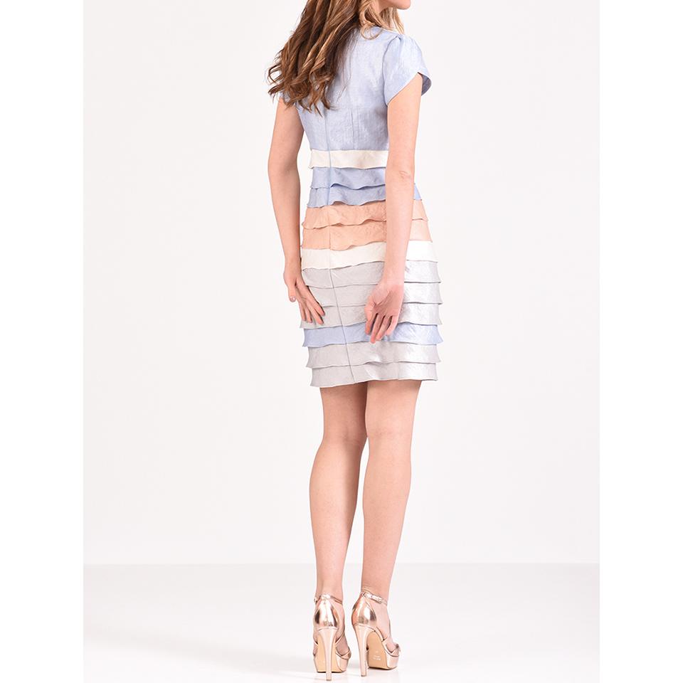 Κοντό φόρεμα κρουαζέ με κοντά μανίκια