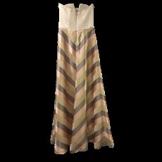 Maxi φόρεμα strapless ριγέ σε Α γραμμή