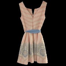 Κοντό φόρεμα σε Α γραμμή με σιέλ ζώνη