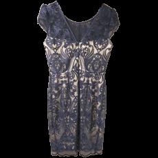 Mini φόρεμα δαντέλα με κοντά μανίκια