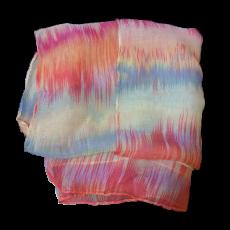 Γυναικείο φουλάρι εμπριμέ σε χρώμα φούξια