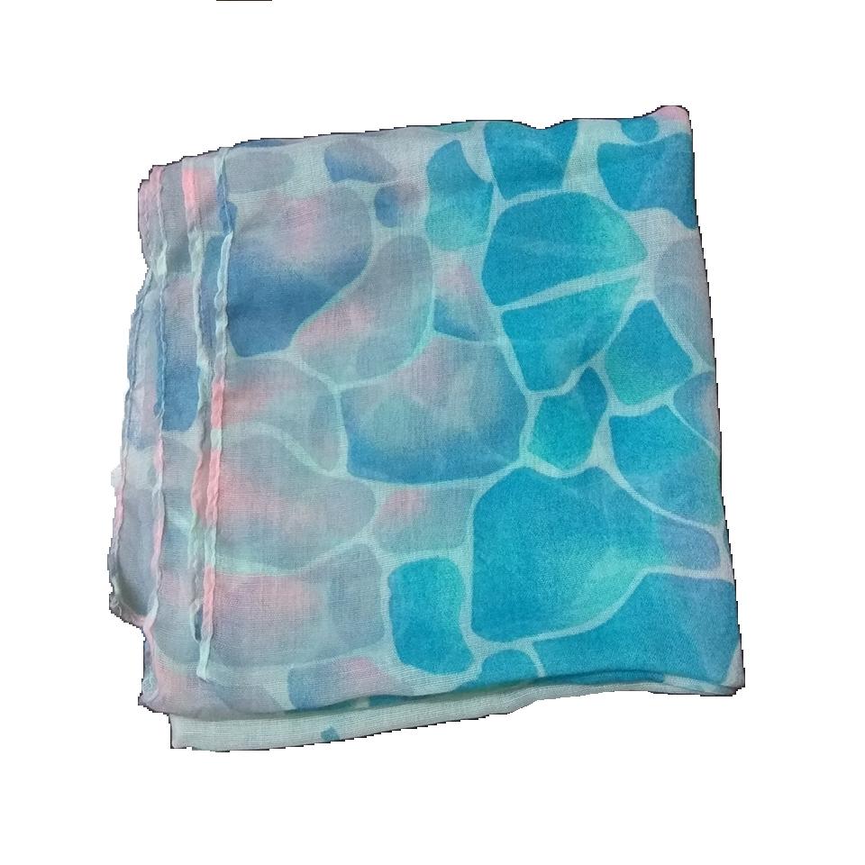 Γυναικείο φουλάρι πουά σε χρώμα πετρόλ