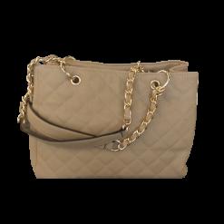 Γυναικεία τσάντα καπιτονέ με τρία χωρίσματα