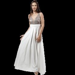 Maxi φόρεμα με παγιέτες στο μπούστο