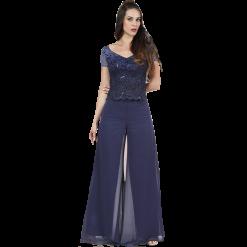 Γυναικεία μπλούζα με κοντά μανίκια από δαντέλα