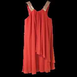 Κοντό φόρεμα μουσελίνα σε φαρδιά γραμμή