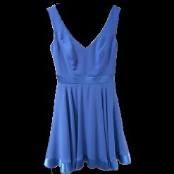 Κοντό φόρεμα Α γραμμή με σατεν τελείωμα