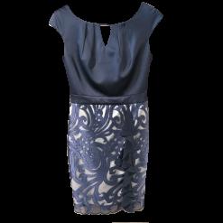 Κοντό φόρεμα σε ίσια γραμμή με σατεν μπούστο