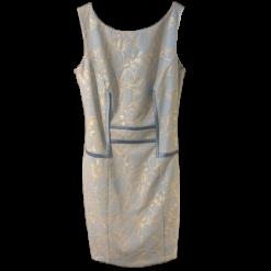 Mini pencil φόρεμα με ανάγλυφη δαντέλα