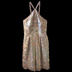 Κοντό φόρεμα με πιέτες και λεπτές τιράντες