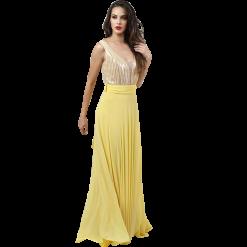 Maxi φόρεμα που δένει χιαστί στην πλάτη